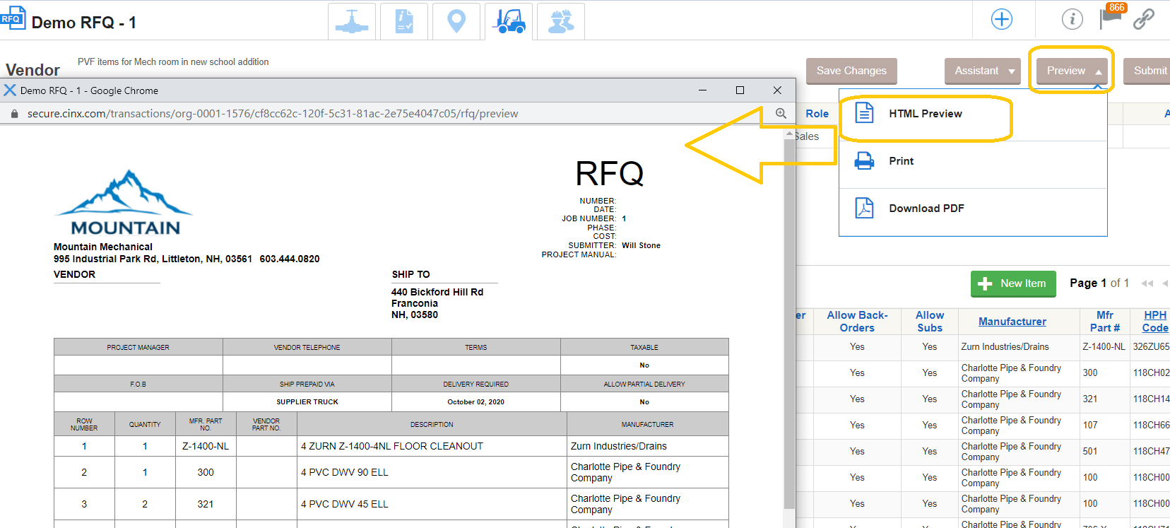 Create and Submit a Request for Quote (RFQ)